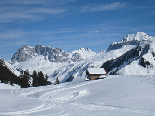 Alp Boden 1632m; Schijenflue 2625m, Sarotlaspitz 2564
