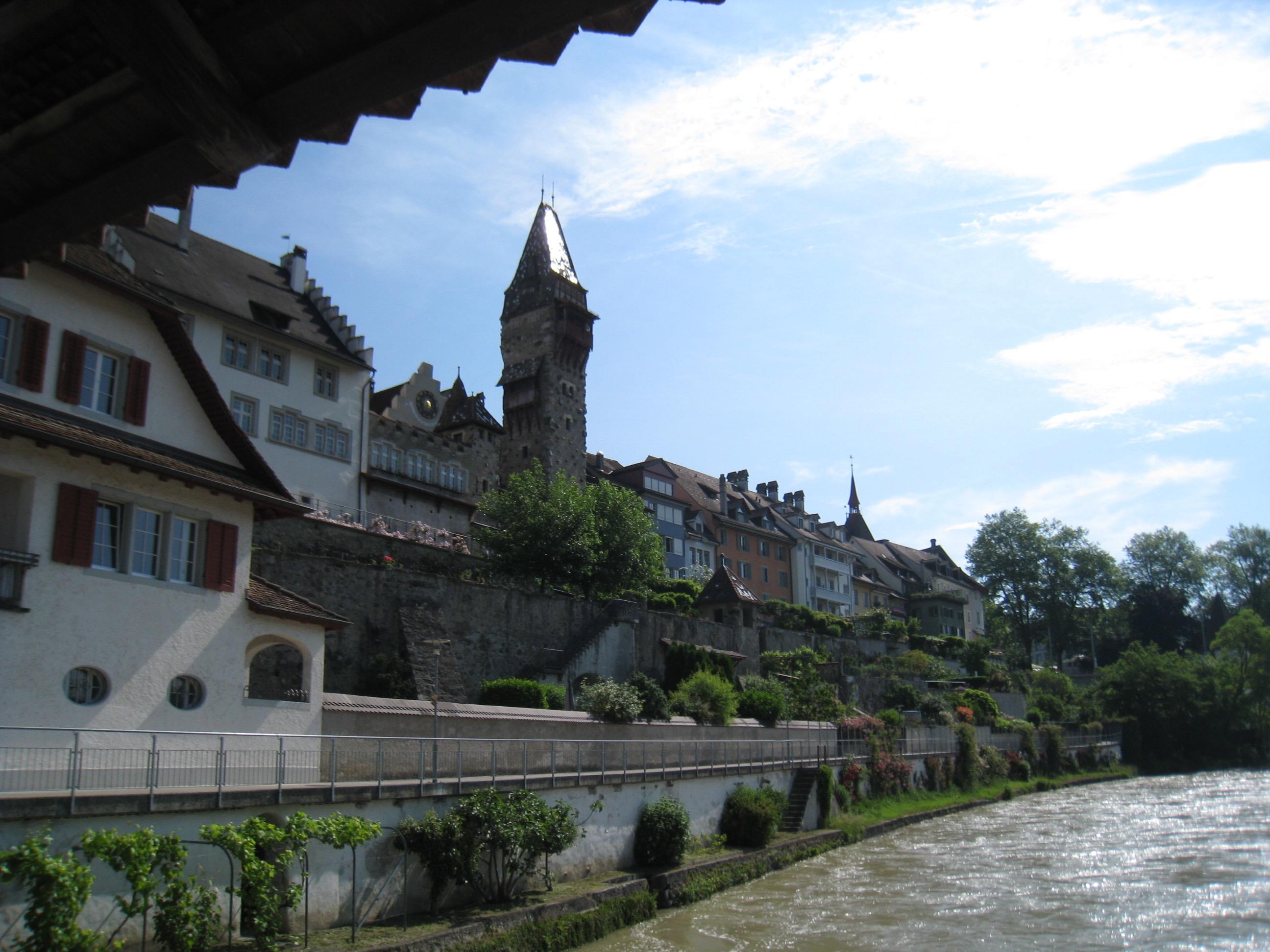 Sicht auf die Altstadt von Bremgarten