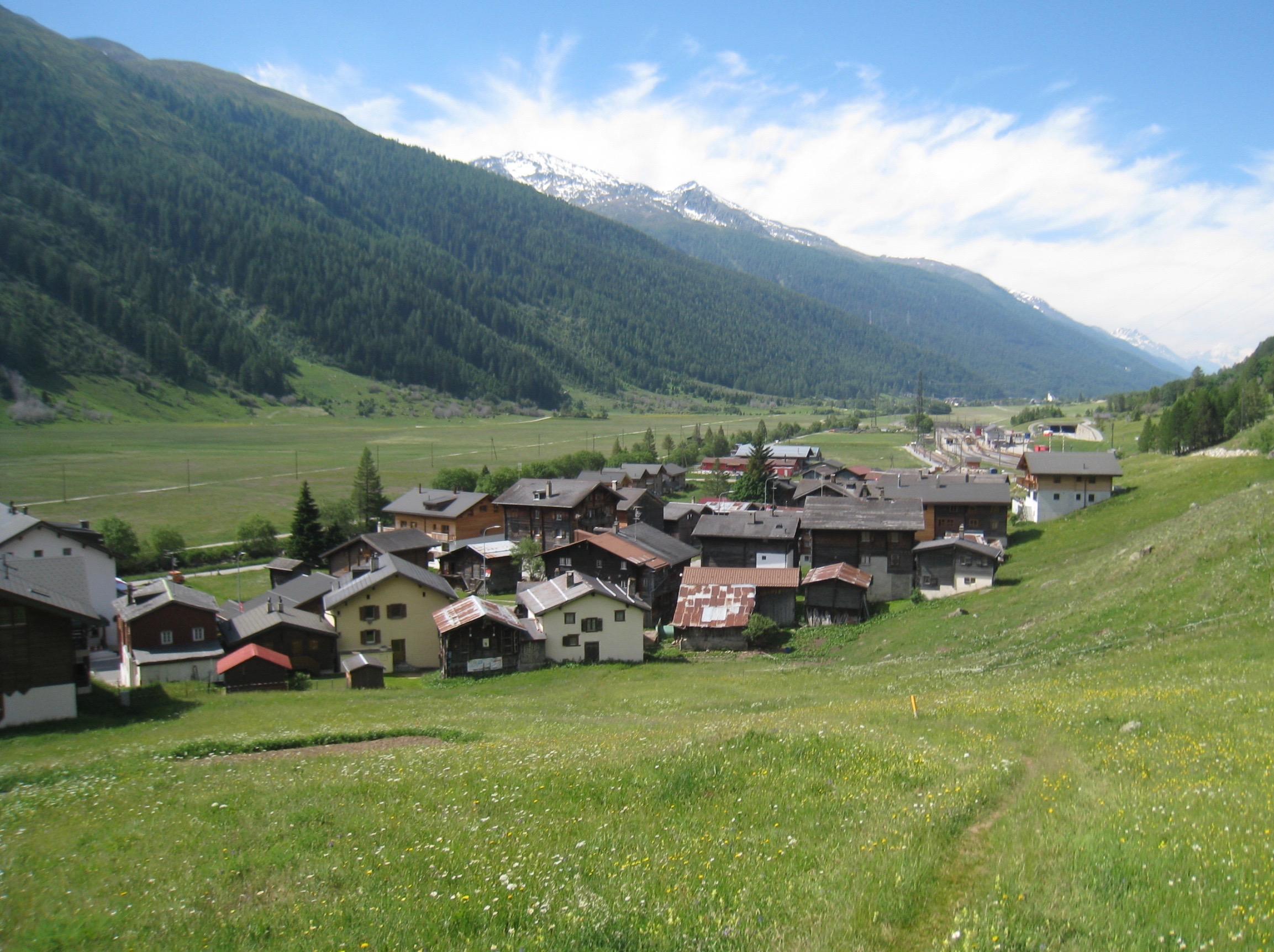 Blick zurück auf Oberwald